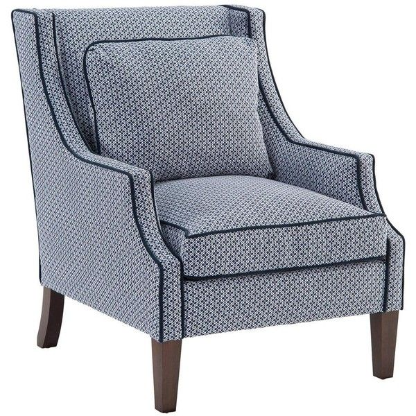 Modern Furniture Upholstery norwalk modern tile print navy piped dark brown arm chair found on