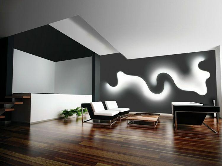 Entzuckend Wandgestaltung Mit Indirekter LED Beleuchtung