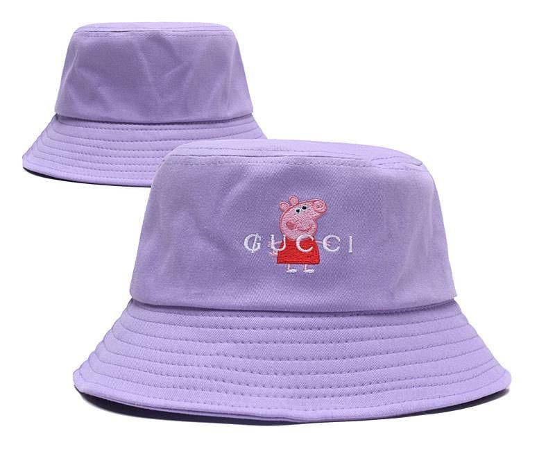 b09867e1695 Gucci x Peppa Pig Bucket Hats - Purple