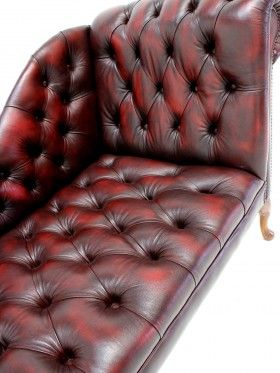 Antique Oxblood Chaise Longue | Couch | Pinterest | Chesterfield ...