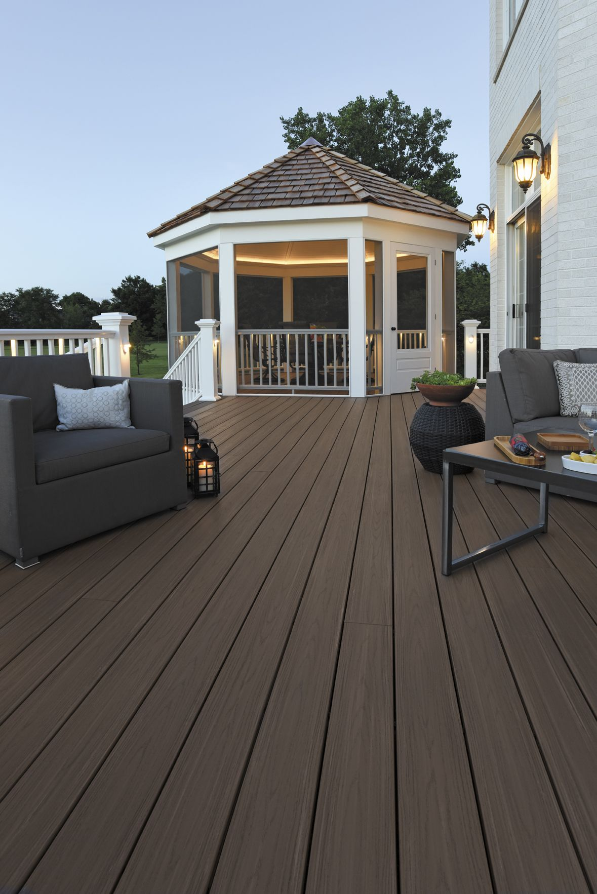 AZEK Harvest Collection Decking in Autumn Chestnut with