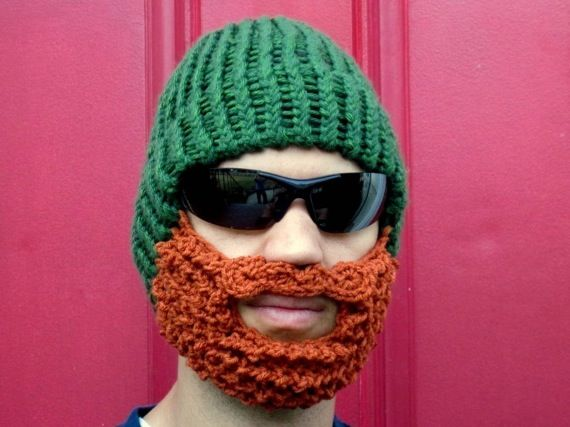 f03cf223189 The Original Beard Beanie™ Green LumberJack 100% Hand Made
