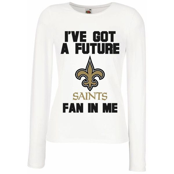 New Orleans Saints Baby Shirt Long Sleeve Women 22 Liked On Polyvore  Featuring Maternity T Shirts d02850a6b