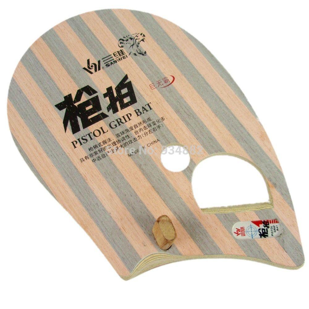 Sanwei T981 Pistol Grip Bat Table Tennis Pingpong Blade For Left Hand Table Tennis Pistol Ping Pong