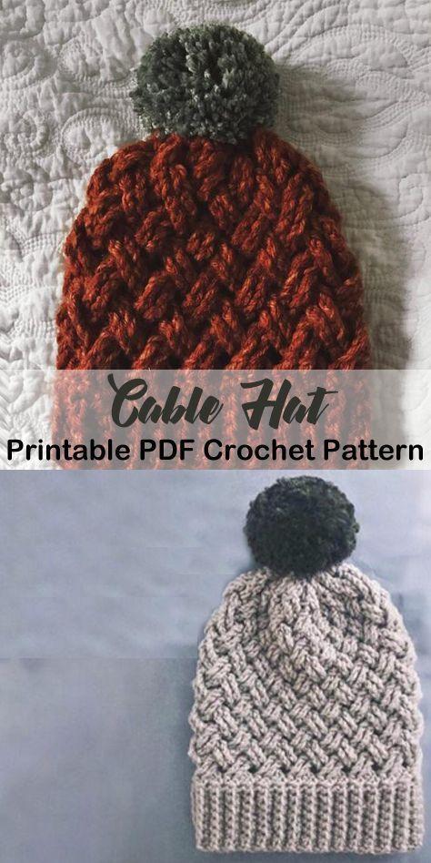 Make your own winter hat. beanie crochet patterns - winter hat crochet patterns - crochet pattern pdf - amorecraftylife.com #crochet #crochetpattern #crochethatpatterns