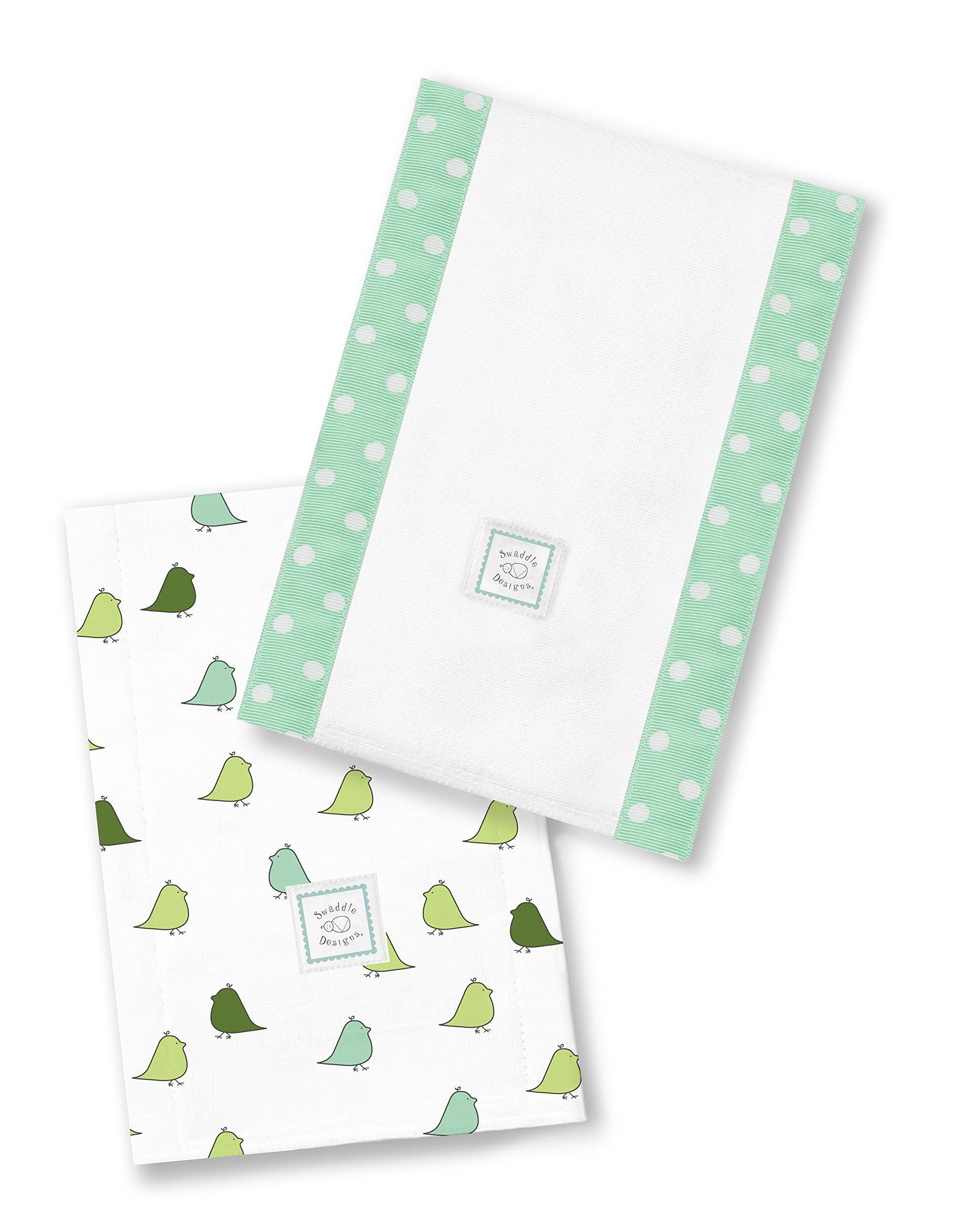 Set of 2 Cotton Burp Cloths SwaddleDesigns Baby Burpies