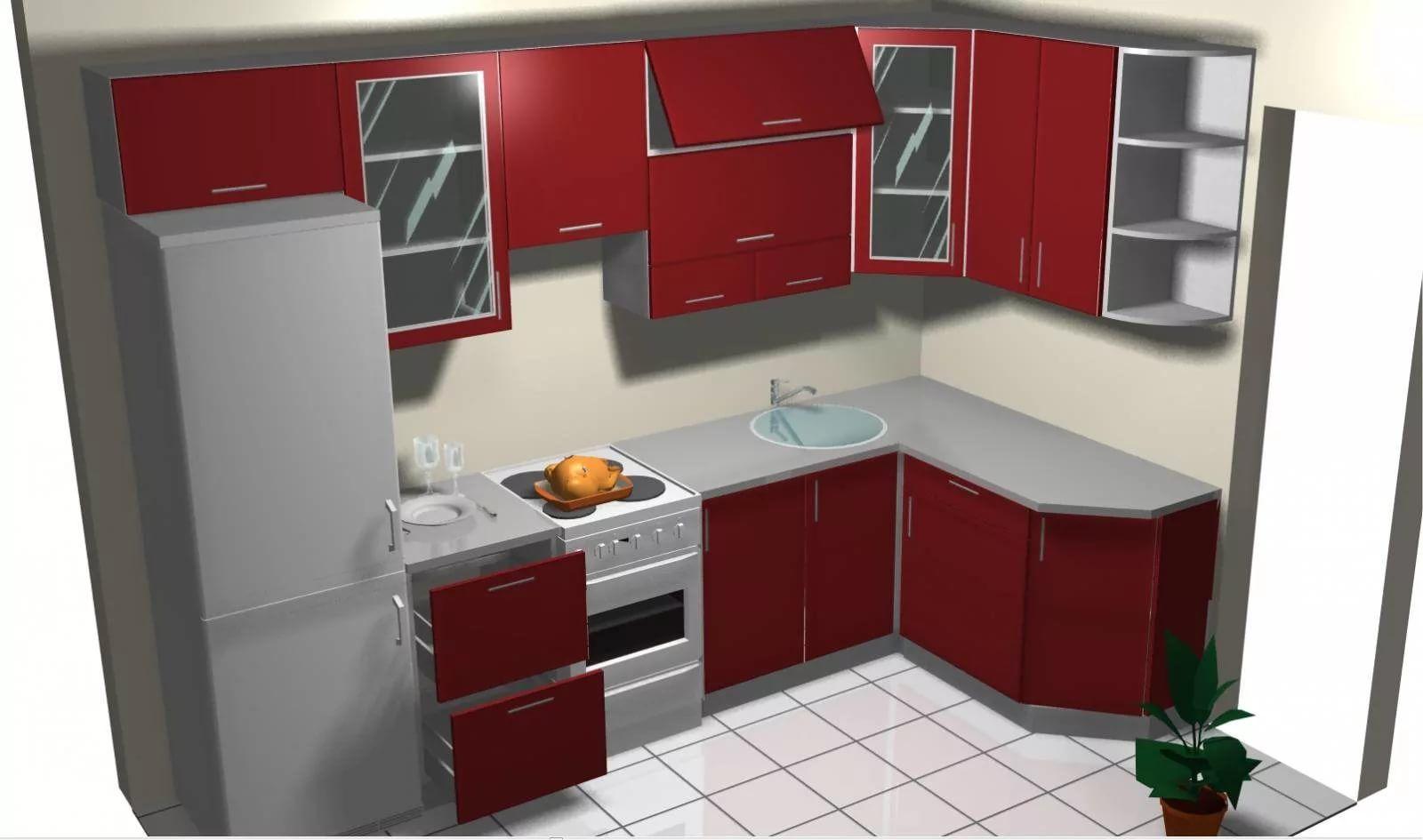проектирование кухни угловой картинки своем