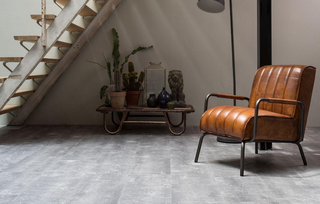 Pvc Vloer Beton : Deze vinyl betontegel heeft de uitstraling van ruw beton en geeft