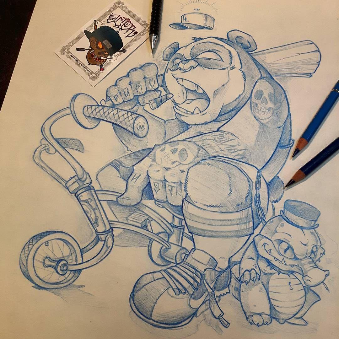 La Vida Panda #ozer #tattoo #tatouage #ironink #