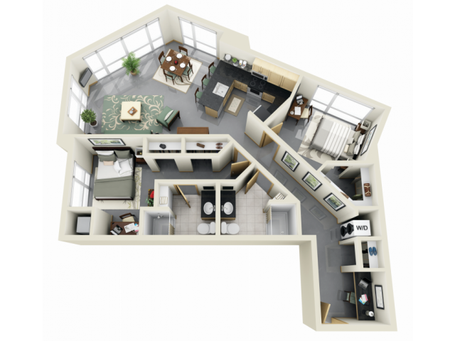 2 Bed 2 Bath Apartment In Minneapolis Mn Home Building Design Sims House Design Small House Plans