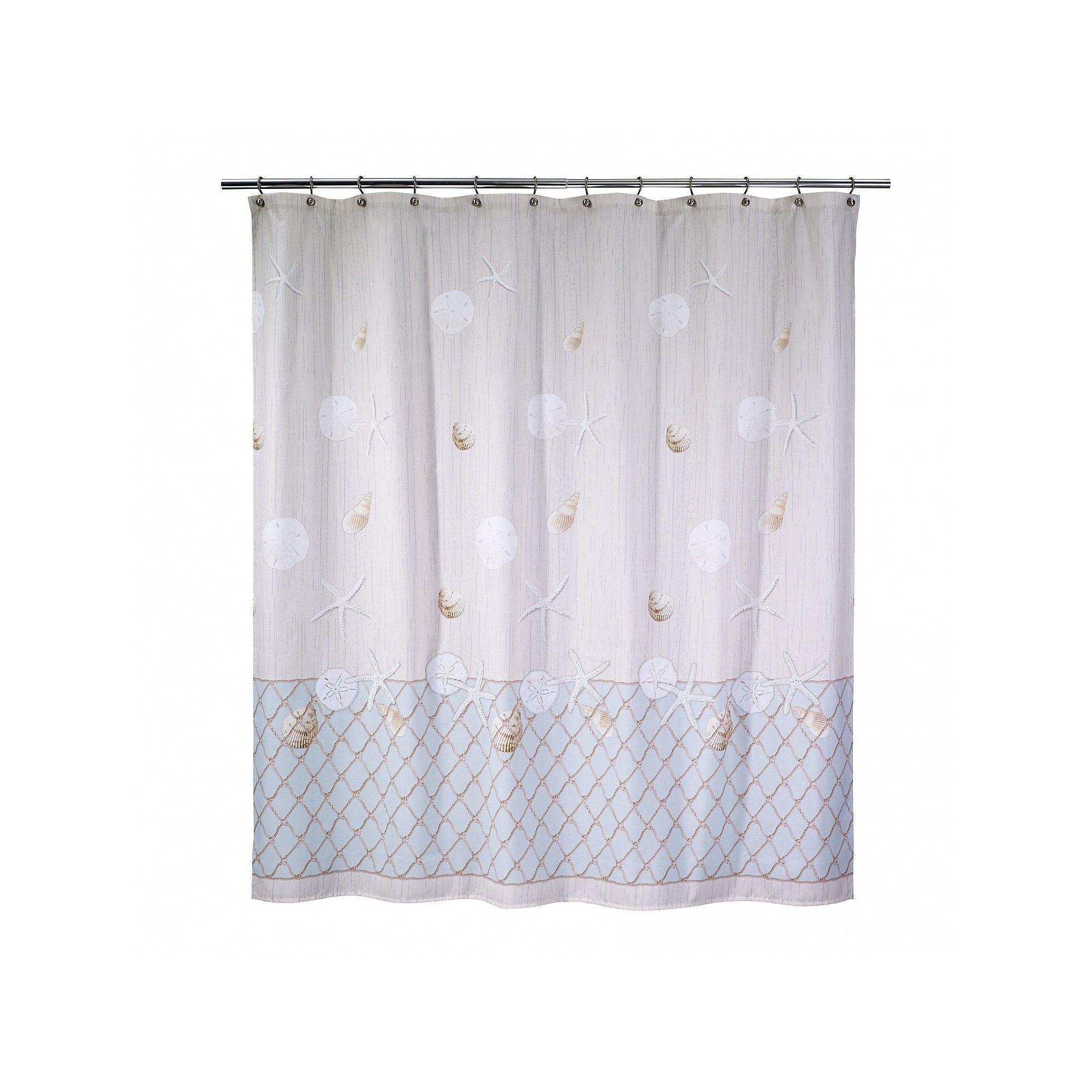 Avanti Seaglass Shower Curtain Off White Shower Curtain
