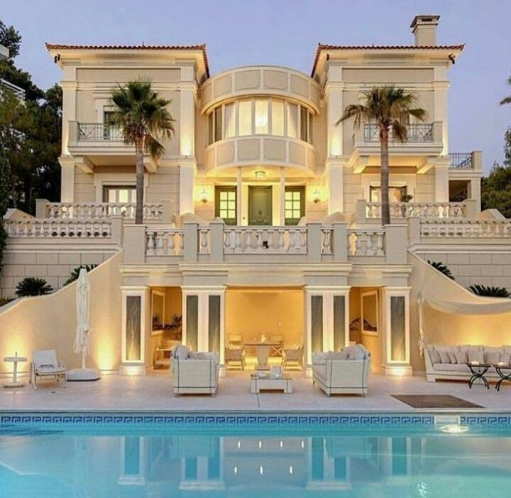 15 Utterly Luxurious Mediterranean Mansion Exterior: Pin By Prachi 😘 On Dream Place In 2019