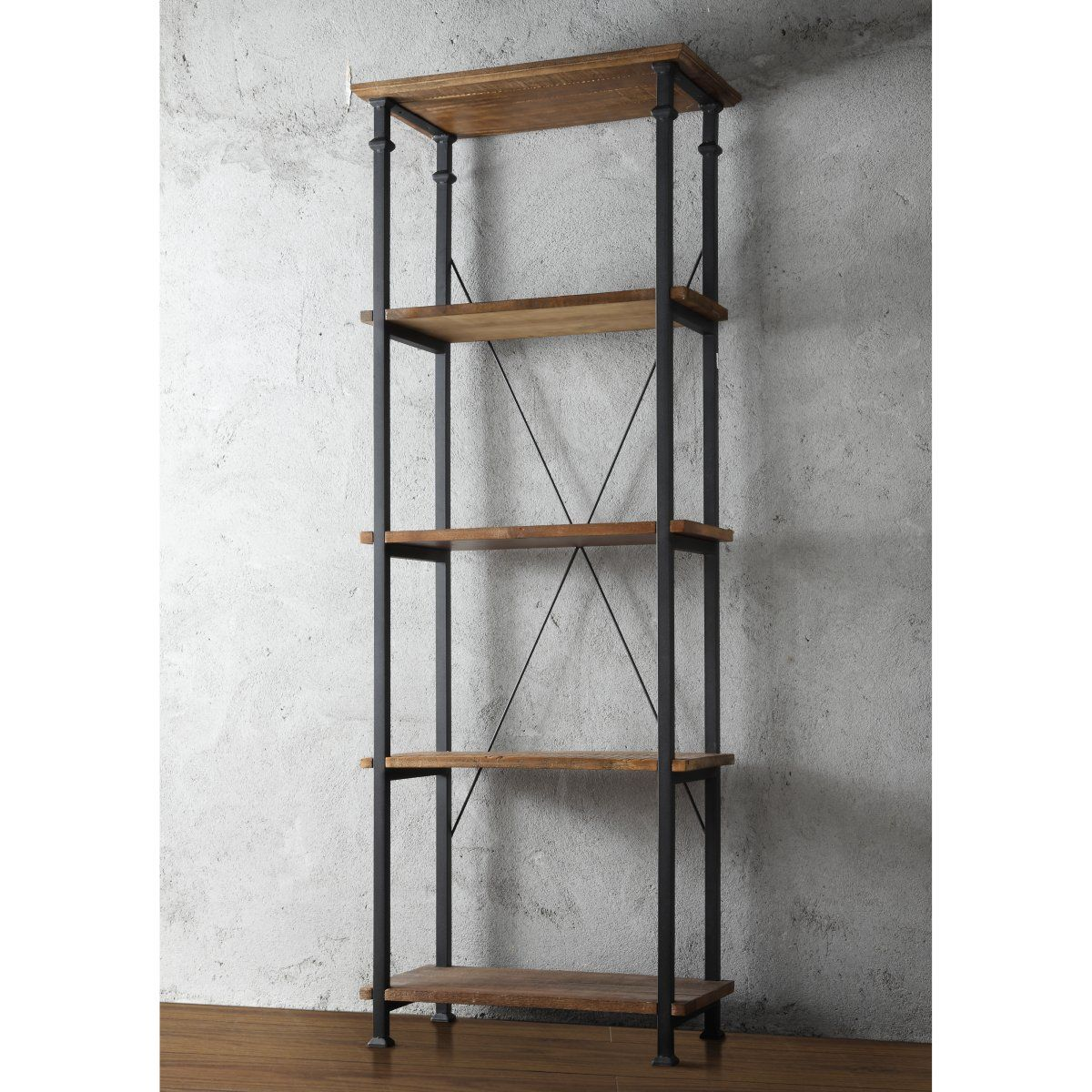 Homelegance Factory Bookcase Www Hayneedle Com Rustic Bookcase Rustic Bookshelf Industrial Bookcases