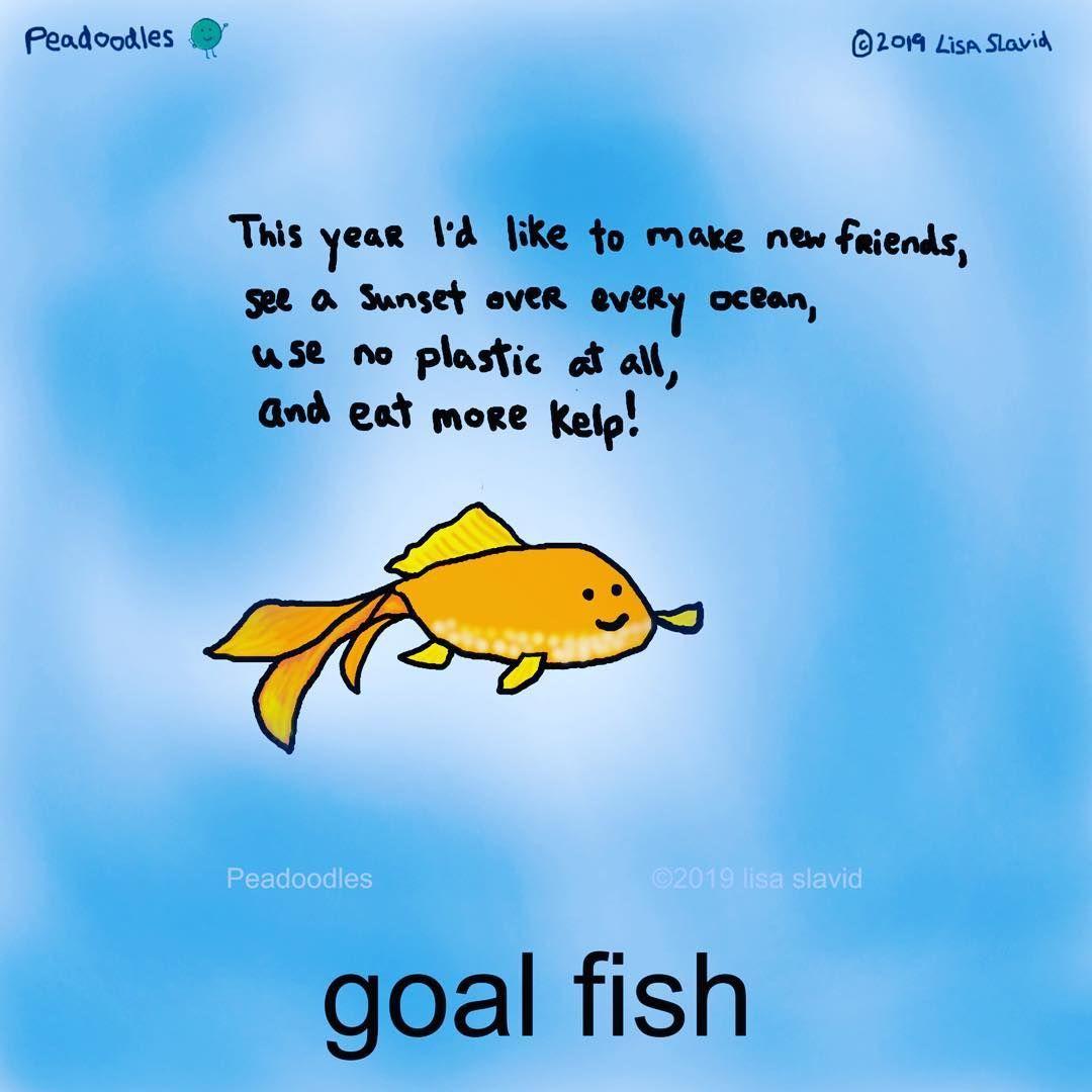 Funny Pun: Goal Fish (goldfish). Punny Humor #peadoodles # ...