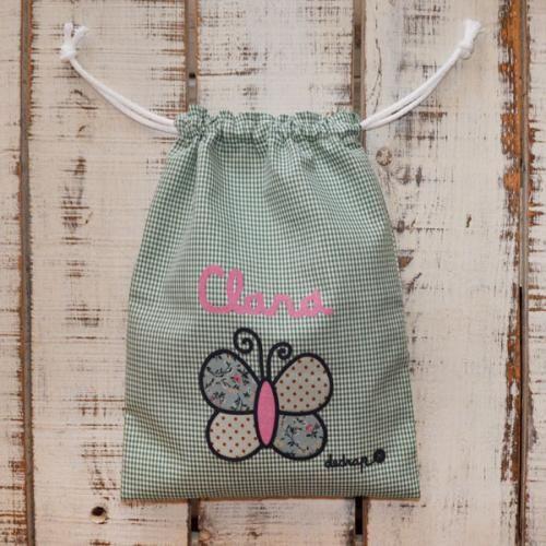 Bolsa merienda mariposa con tu nombre - Marketplace social de tiendas para niños de 0 a 14 años