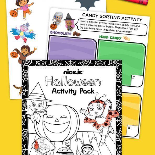 Nick Jr Halloween Activity Pack Halloween Activities Halloween Coloring Pages Coloring Pages For Boys