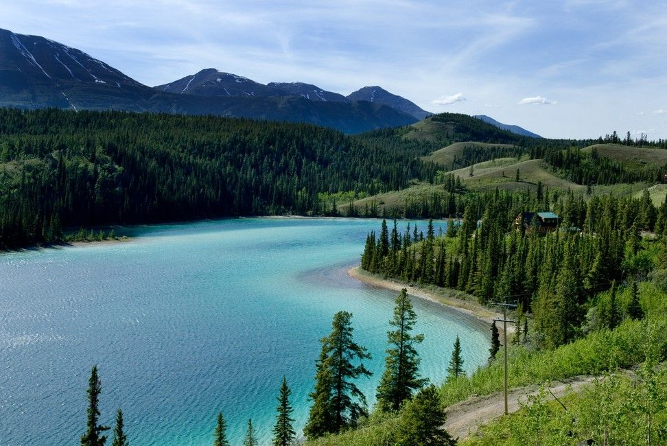 Emerald lake Whitehorse Yukon Canada. [OC] [1080x1080