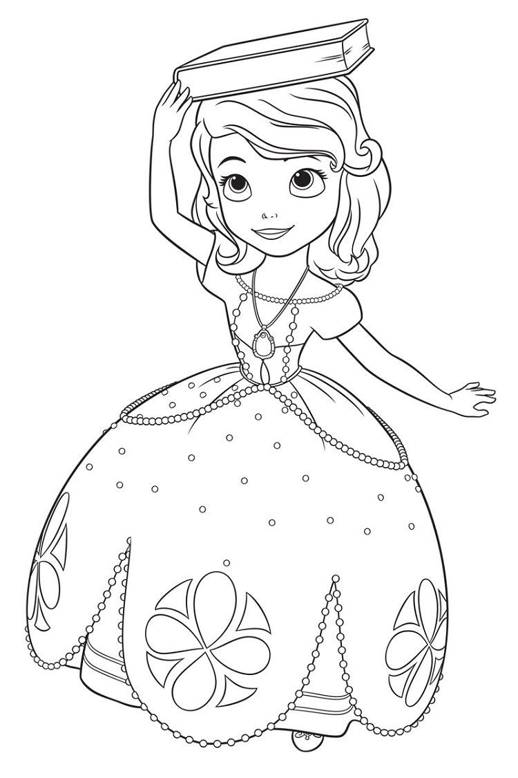 Sofia The First Giant Coloring Pages Download Or Print The Image