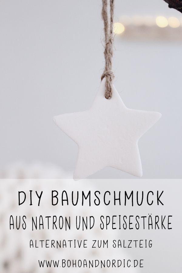DIY Weihnachtsbaumschmuck aus Speisestärke und Natron #christbaumschmuckbastelnkinder