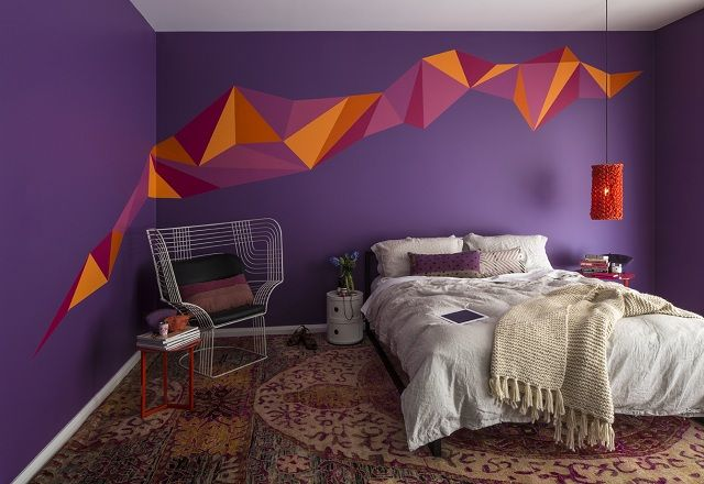 Wall Decoration With Purple Color Decoration Ideas With Images