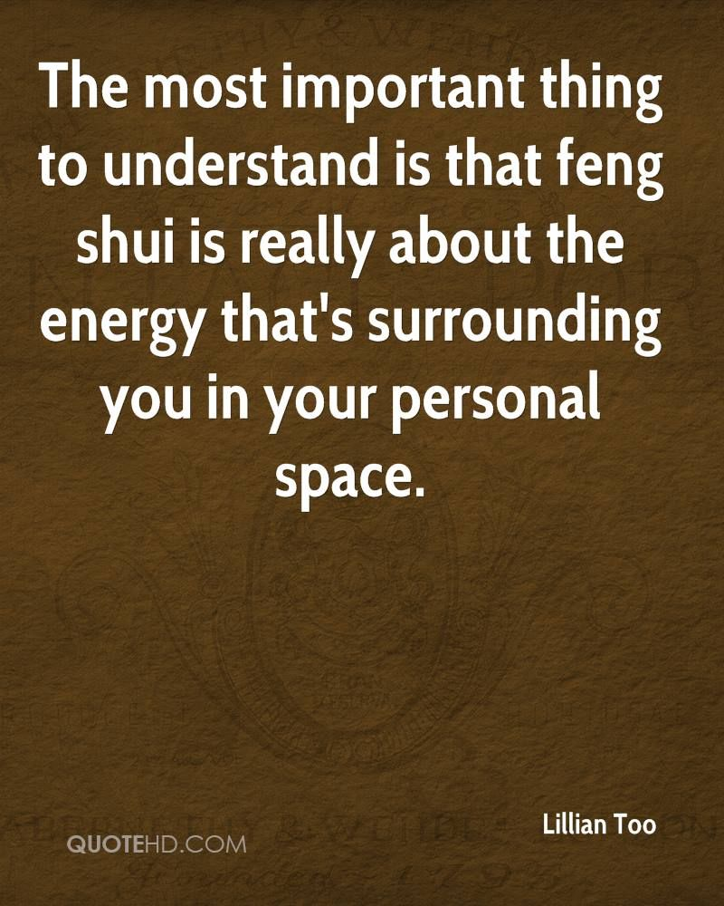 FengShui quote from Lillian Too, \