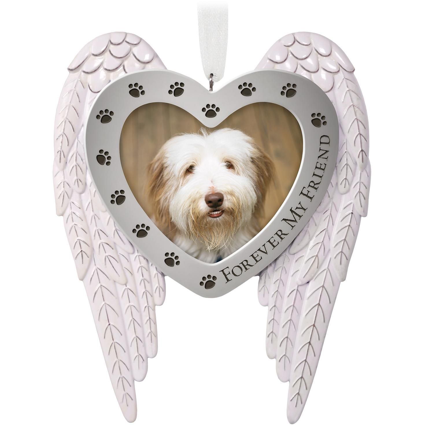 Forever My Friend Pet Memorial Metal Photo Ornament