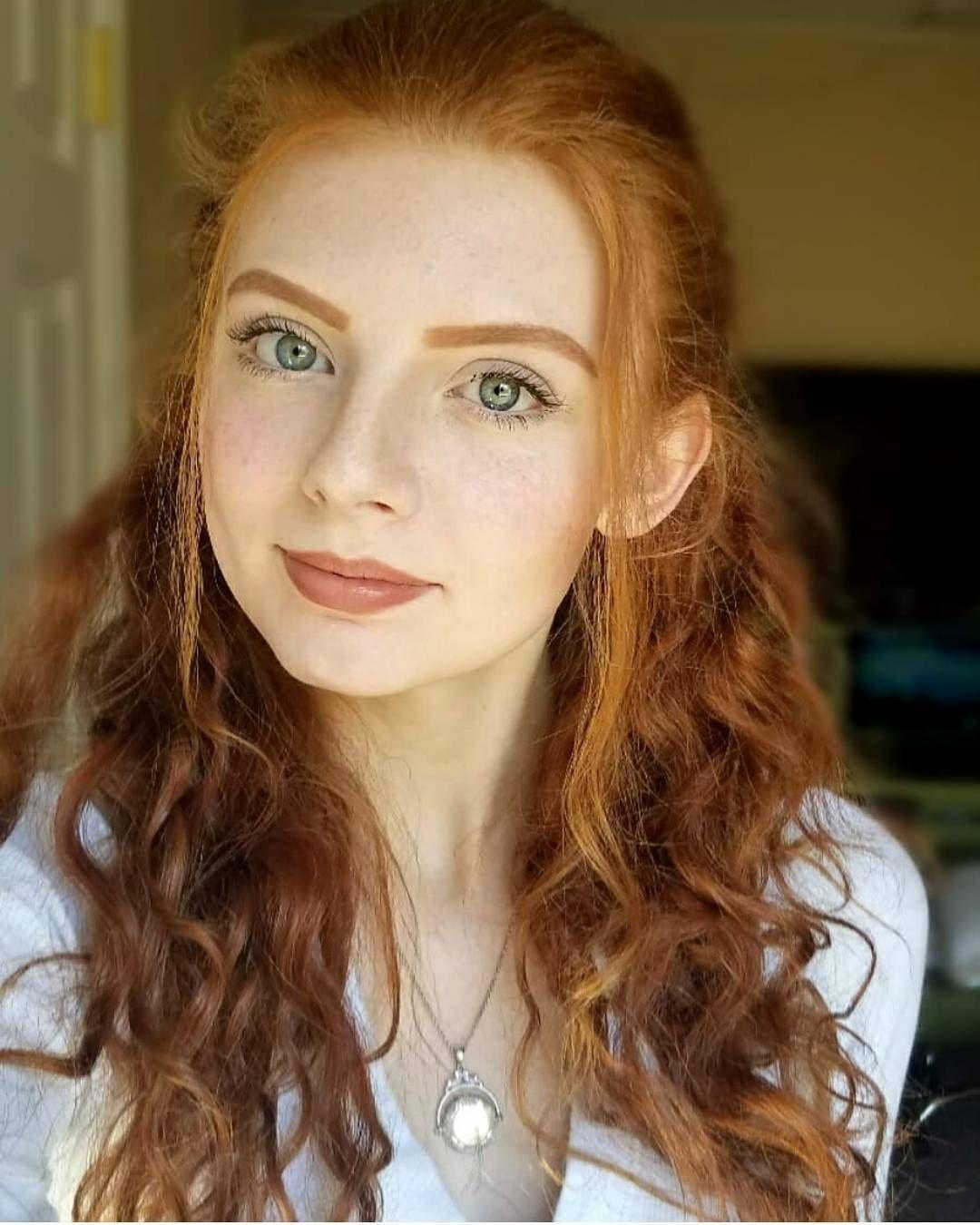 Girl natural redhead
