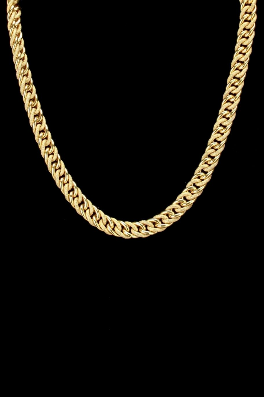 Miami Cuban Iced Out 24K Gold Layered 26 Inch ChainNecklace Complete with Black Velvet Pouch 12mm Wide