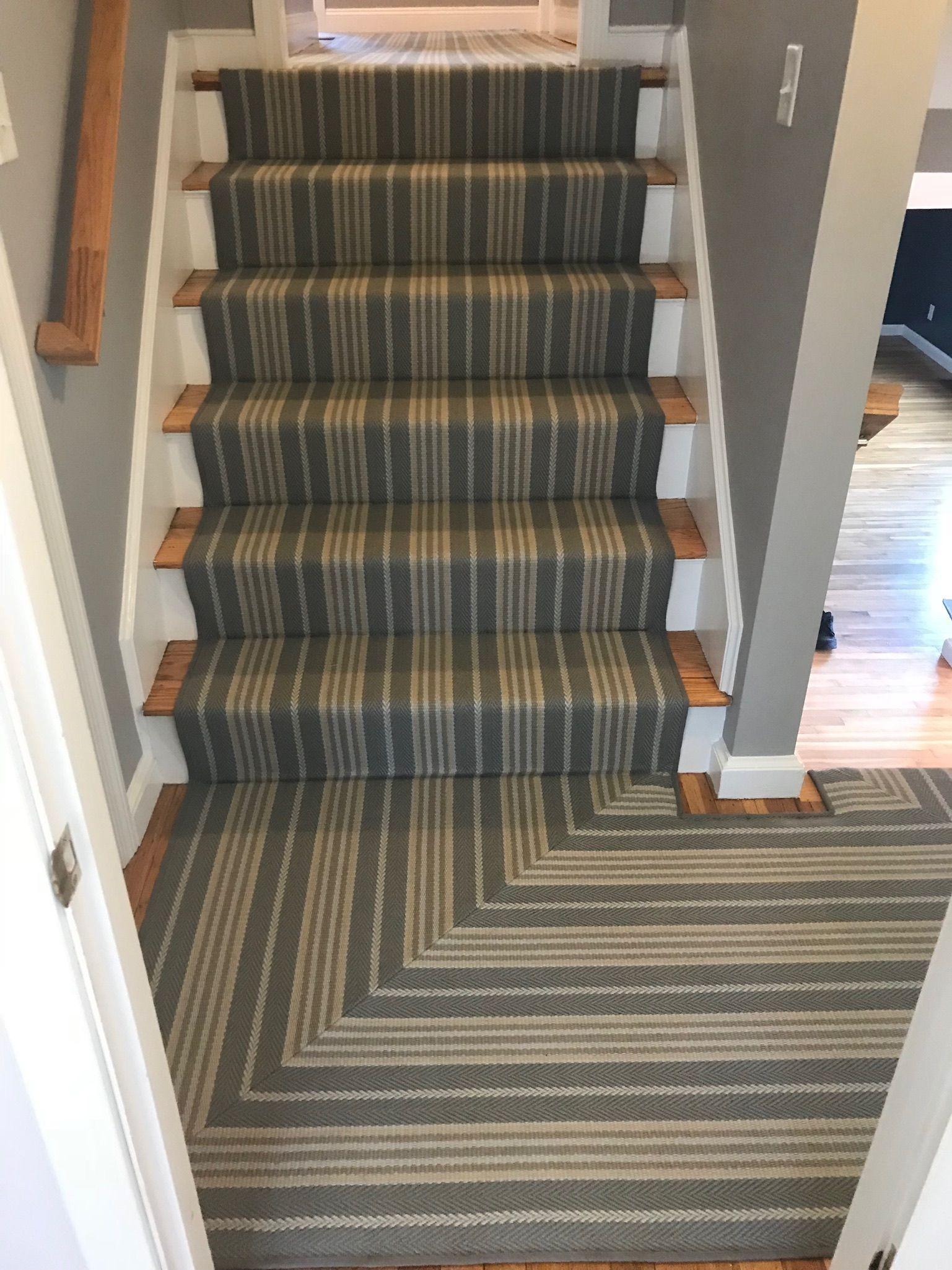 Prestige Mills Mantra Clarence Stripe Blue Ribbon Striped Stair Runner Home Decor Stair Runner