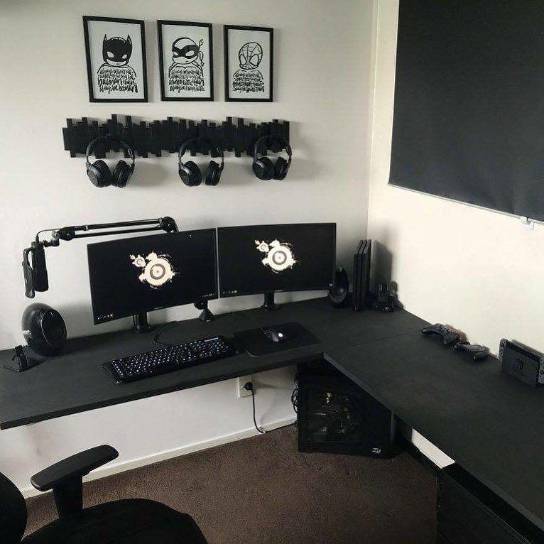 Fascinating Corner Desk Nebraska Furniture Mart Made Easy Gaming Room Setup Diy Corner Desk Corner Gaming Desk
