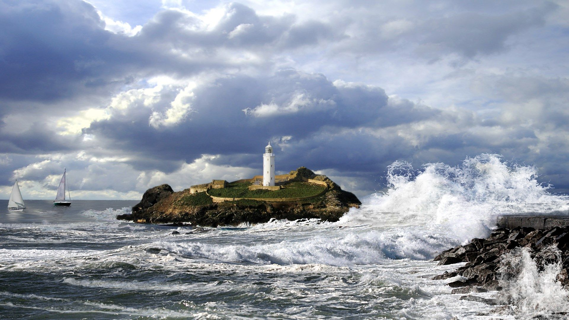 Lighthouse Screensaver Fall - Lighting