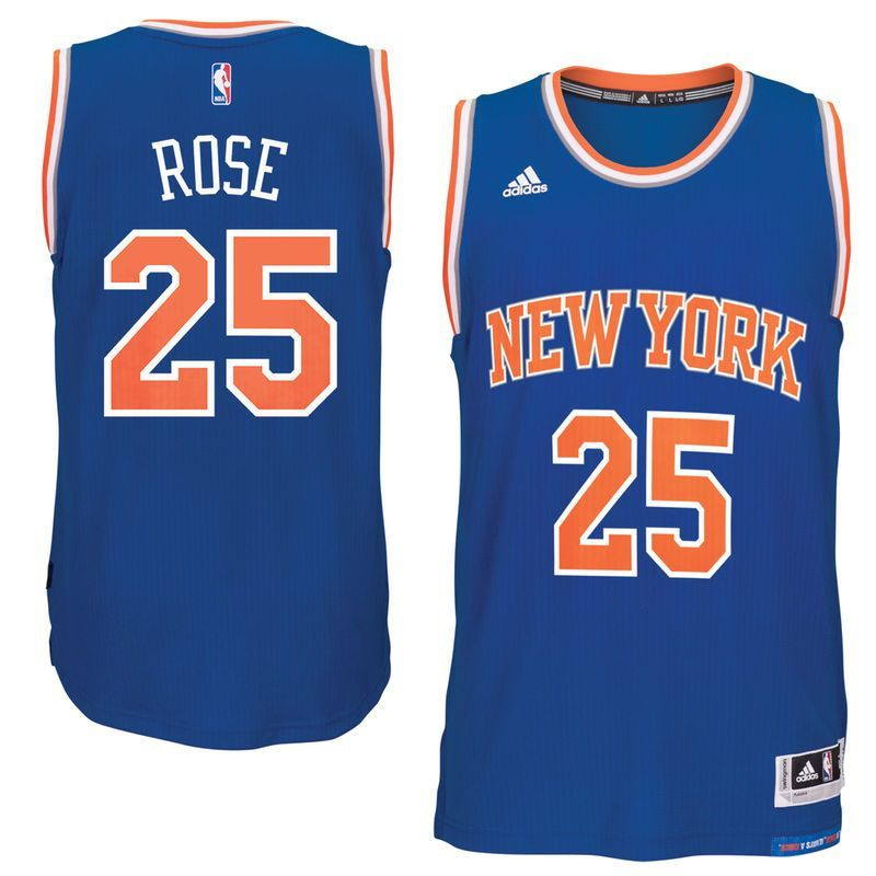 0221d45f8 Derrick Rose New York Knicks adidas climacool Road Swingman Jersey - Royal