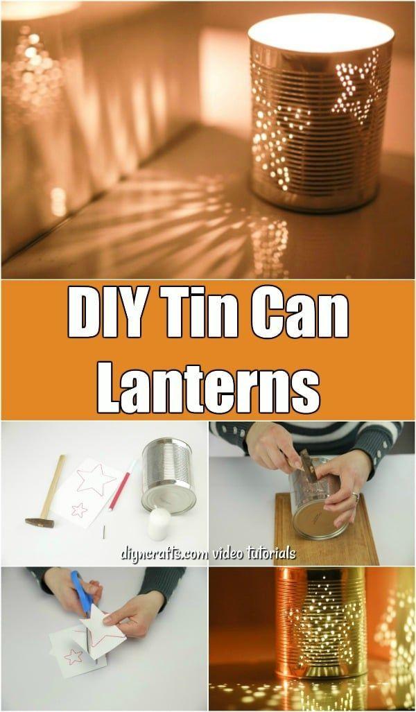 How To Make Gorgeous DIY Tin Can Lanterns #tincans