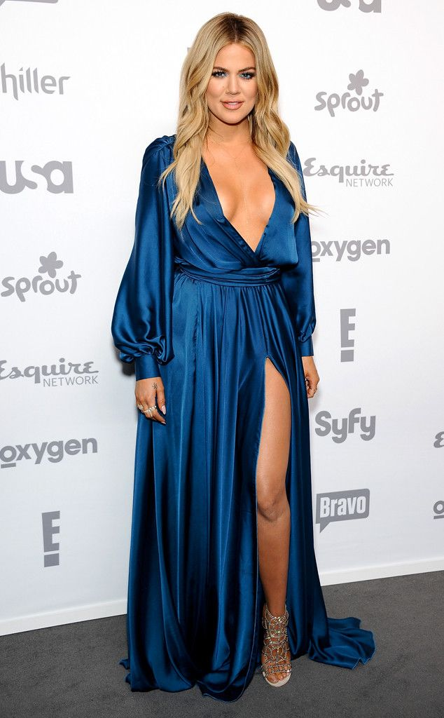 Khloe k maxi blue dress