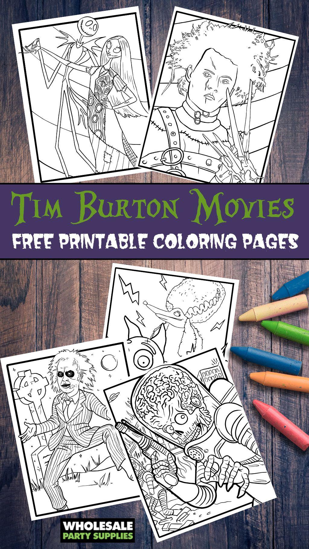 Tim Burton FREE Printable Coloring Pages   Printable ...