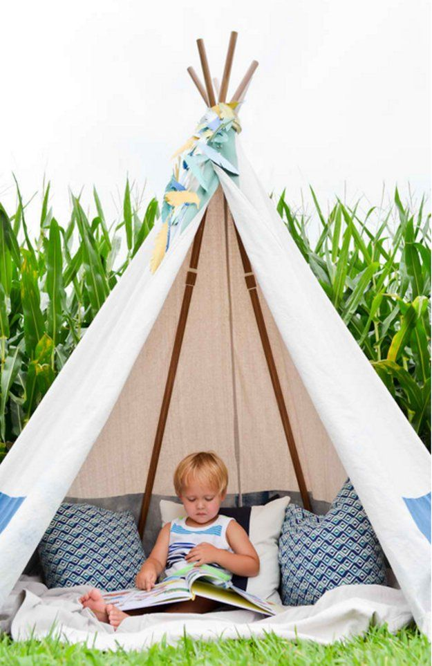 No Sew Teepee   12 Fun DIY Teepee Ideas for Kids , see more at: http://diyready.com/fun-and-exciting-diy-teepee-ideas-for-kids/
