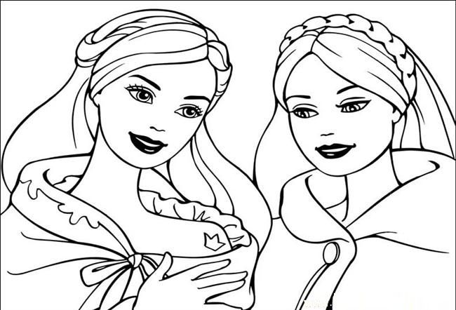 Barbie coloring page november Fun for the Kids Pinterest
