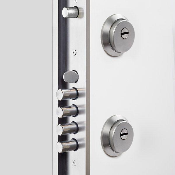 Doble Cerradura Puertas De Seguridad Puertas De Entrada Aluminio Diseno Del Hall De Entrada