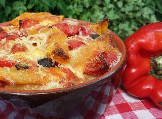Denny Chef Blog: Pennoni gratinati con peperoni e olive