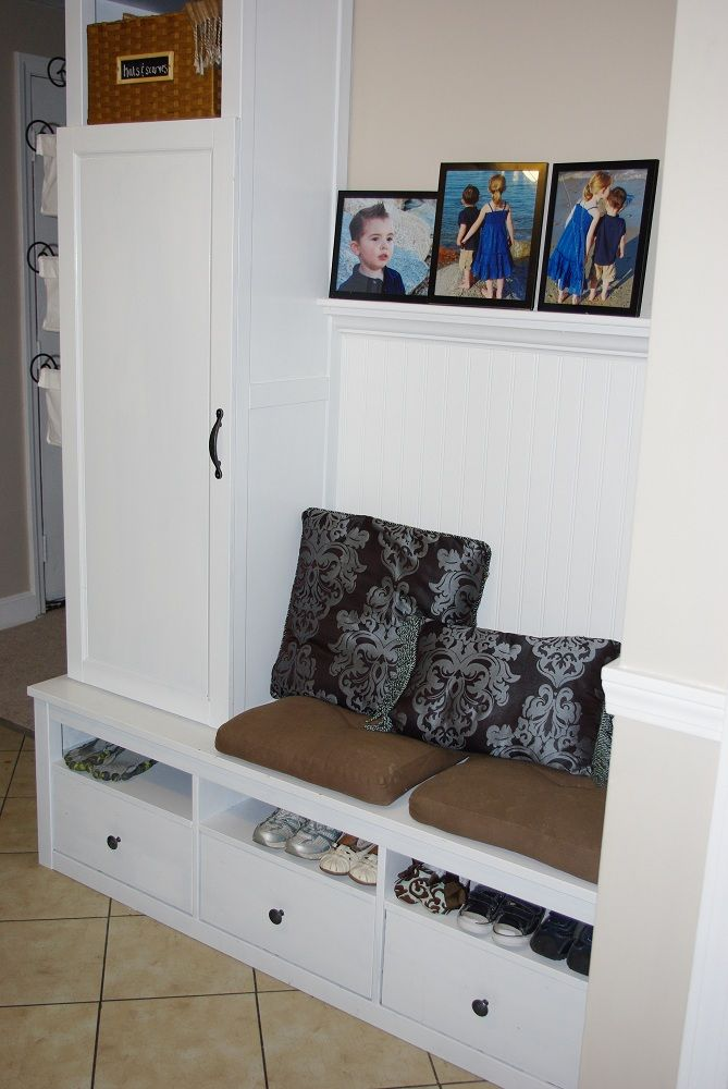 Cheap Diy Mudroom Ikea Hack Home Improvement Ikea