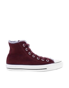 4937aca4e6fc Converse+All+Star+Warm+Lining+Burgundy+Suede+High+Top+Trainers ...