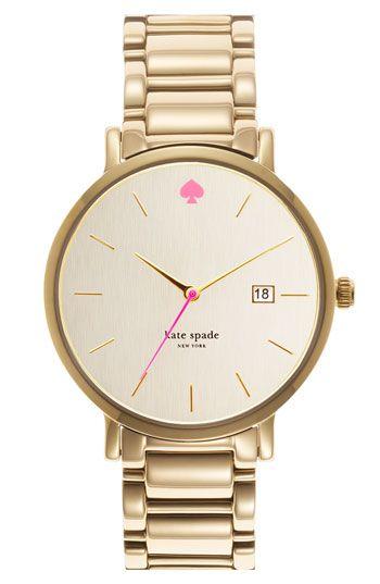 kate spade new york 'gramercy grand' bracelet watch