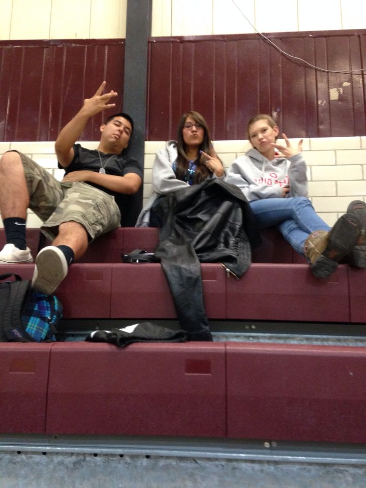 Jeremy, Letticia and I being the ghettos thugs we are.