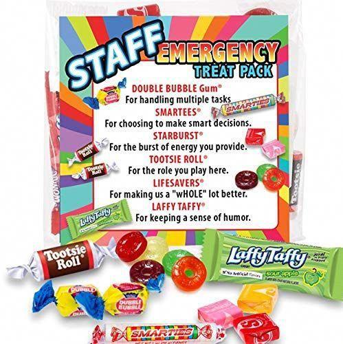 Staff Emergency Treat Pack - Employee Survival Kits - Appreciation Gifts (6 Treat Packs) #employeeappreciationideas