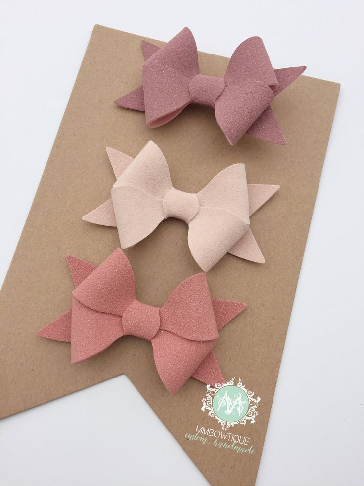 Excited to share the latest addition to my #etsy shop: Baby Girl Headband, Faux Suede Bow Clips or Headband, Baby Bow