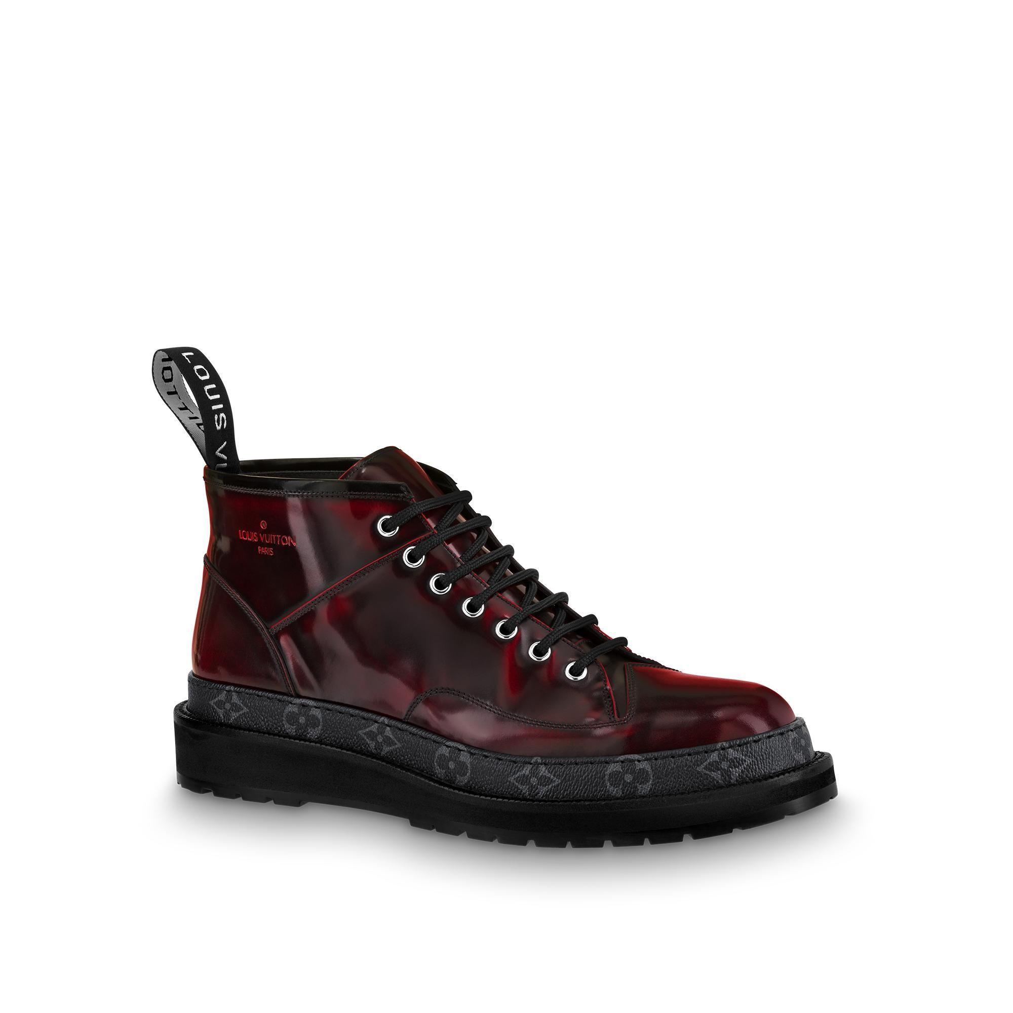 LOUIS VUITTON Black Ice Ankle Boot