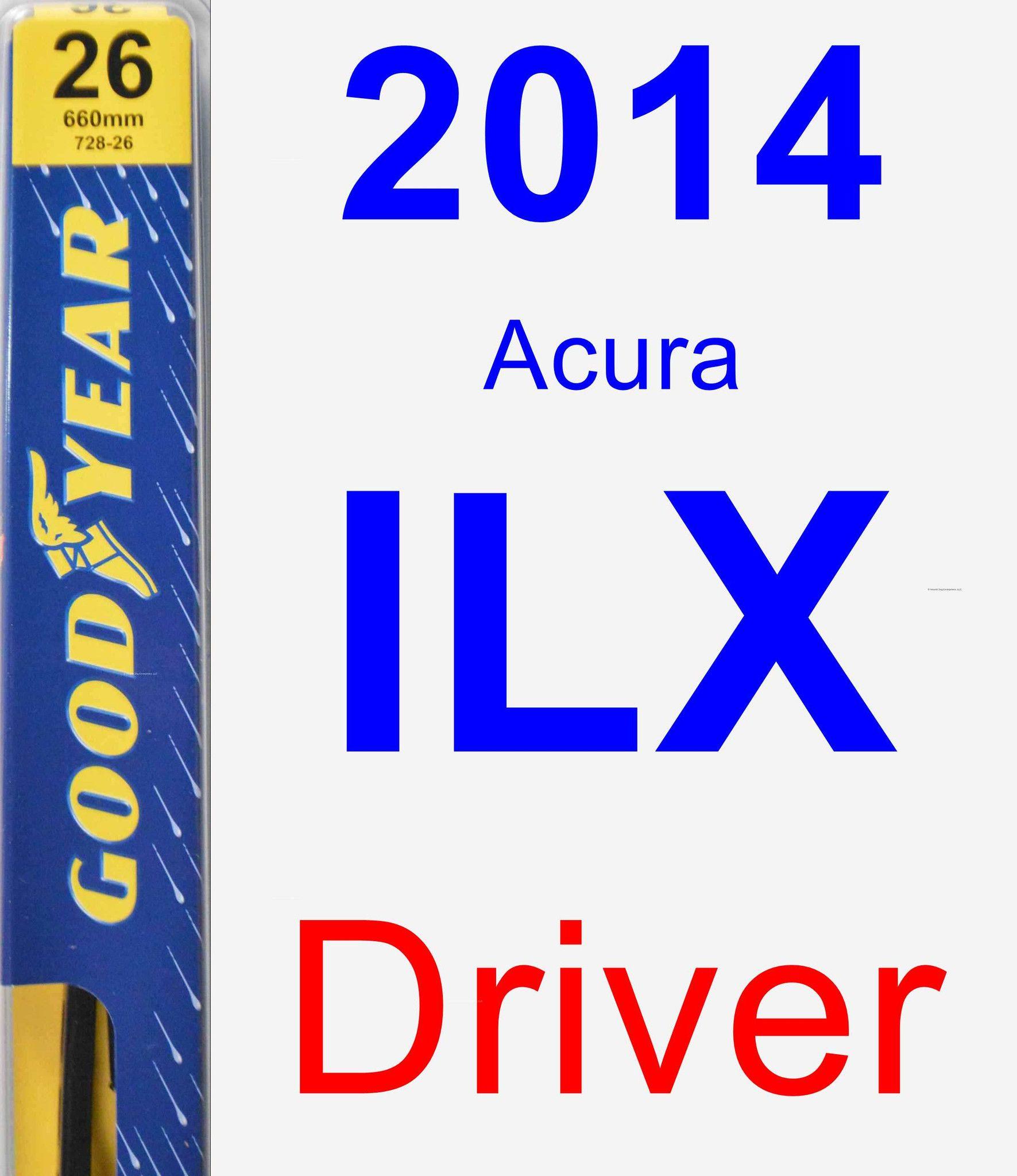 Driver Wiper Blade for 2014 Acura ILX - Premium