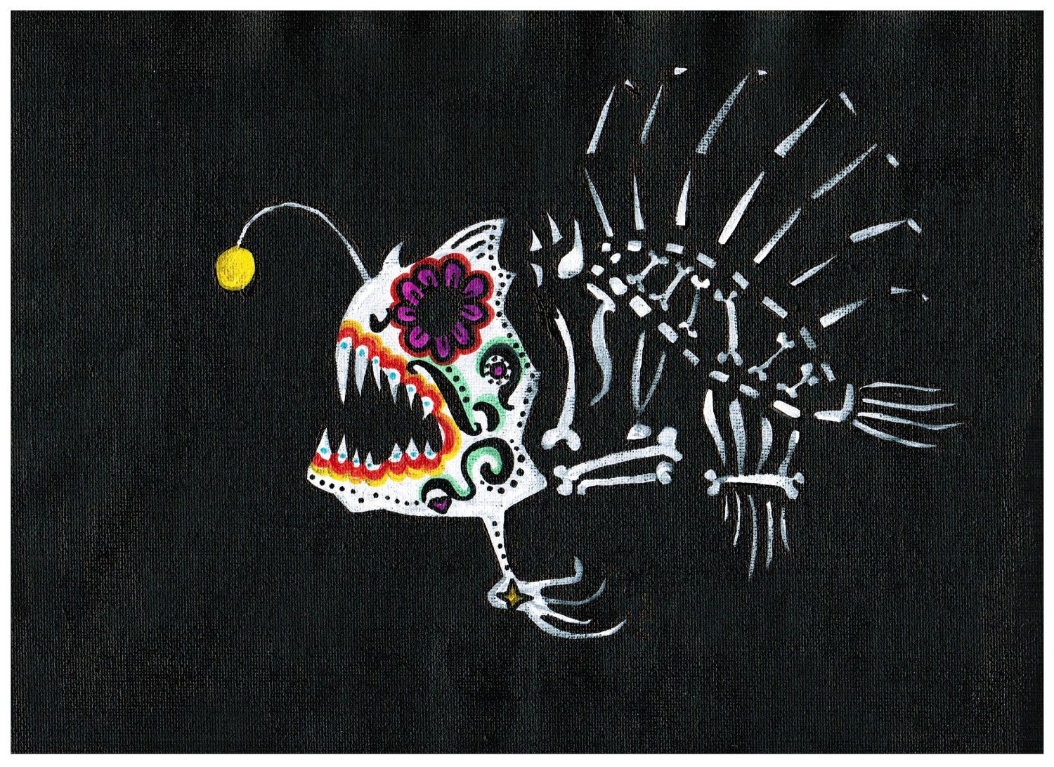 dia de los muertos fish | Request a custom order and have something ...