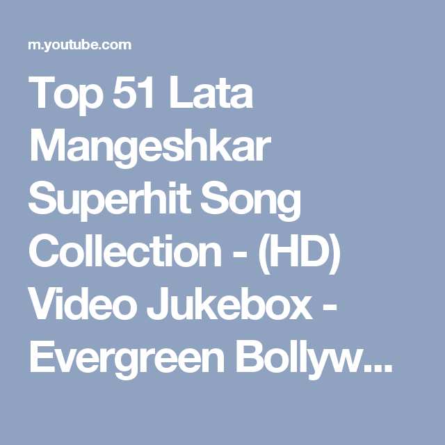 youtube old hindi songs video