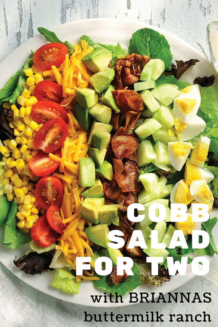 Cobb Salad For Two Briannas Salad Dressings Recipe Cobb Salad Salad Classic Cobb Salad Recipe